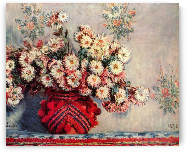 Still Life with Chrysanthemums by Monet by Monet