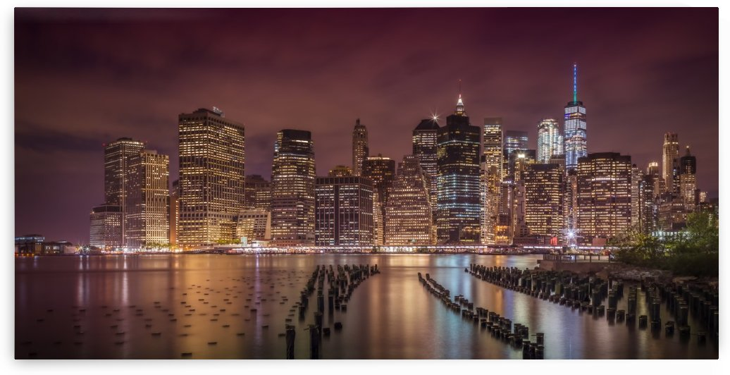 NEW YORK CITY Nightly Impressions | Panoramic by Melanie Viola