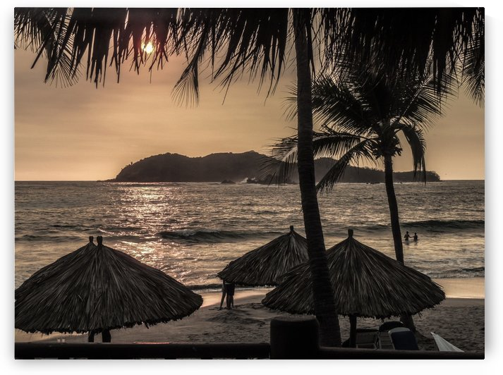 Tropical sunset by Philippe Collard