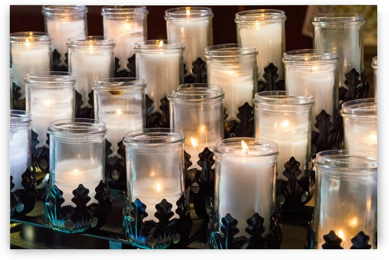 Catholic Prayer Candles by Melody Rossi