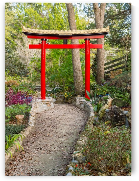Garden Path with Torii by Melody Rossi