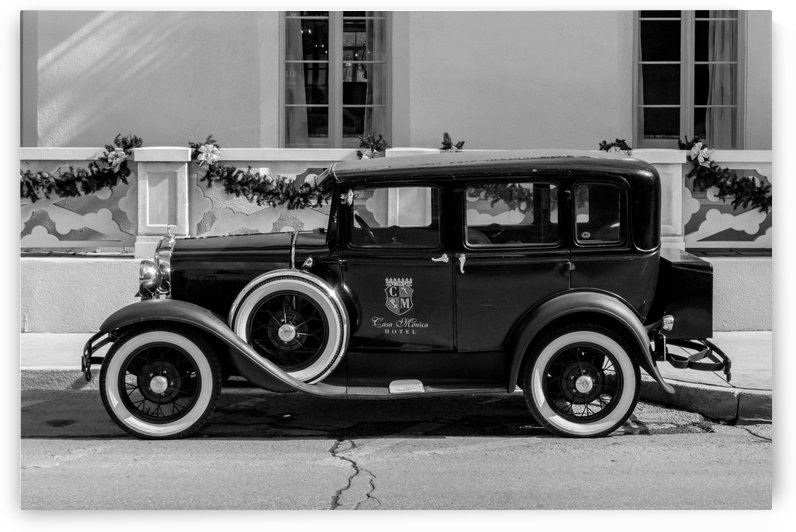 Black & White Vintage Casa Monica Transport by Melody Rossi