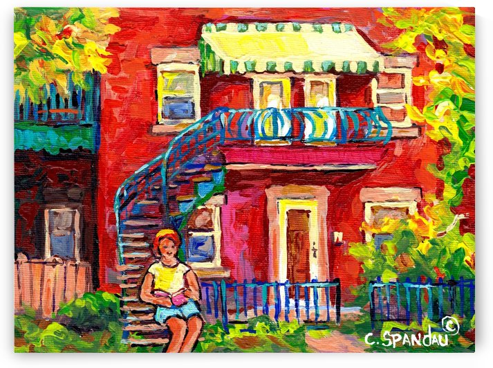 MONTREAL STAIRCASE SCENE by Carole  Spandau