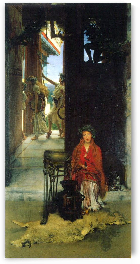 The path to the temple  by Alma-Tadema by Alma-Tadema