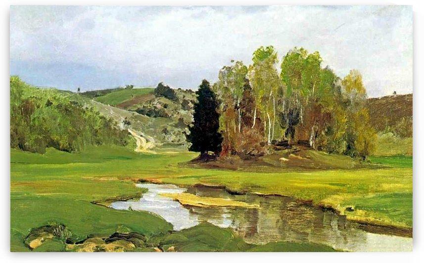 River Svinka near Aleksin by Vasili Dmitrievich Polenov