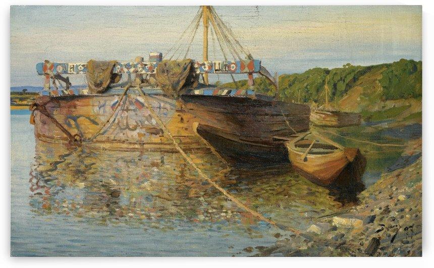 Barge on the River Oka by Vasili Dmitrievich Polenov