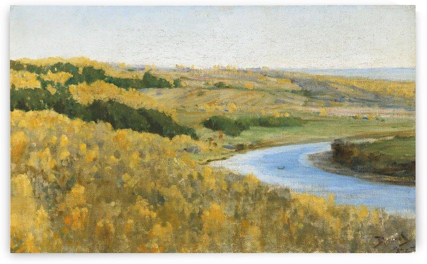 River Oka in golden autumn by Vasili Dmitrievich Polenov
