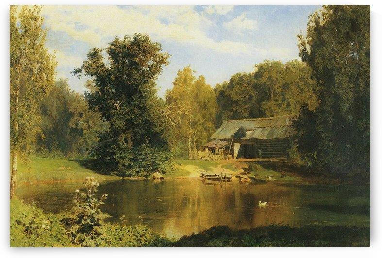 Pond in Abramtzevo, 1883 by Vasili Dmitrievich Polenov