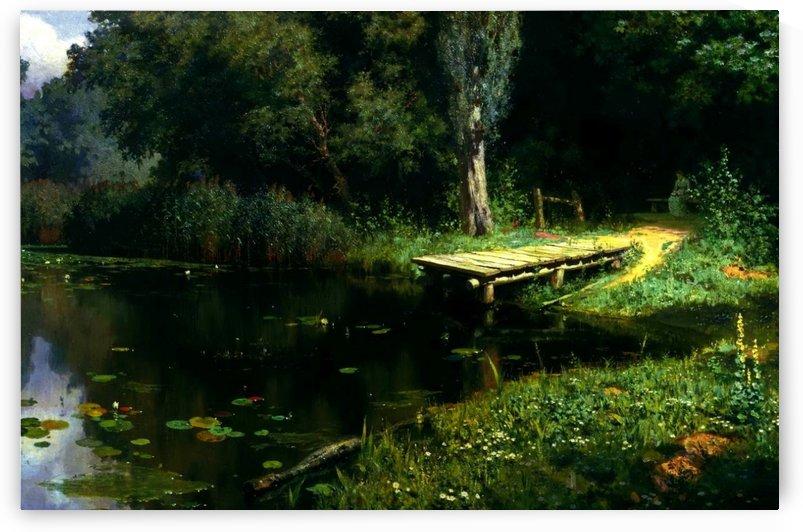Overgrown pond by Vasili Dmitrievich Polenov