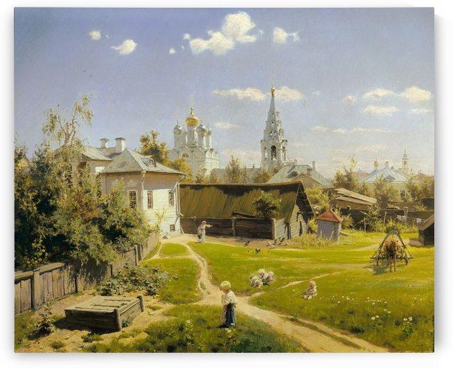 Moscow courtyard by Vasili Dmitrievich Polenov