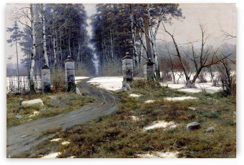 Early snow by Vasili Dmitrievich Polenov