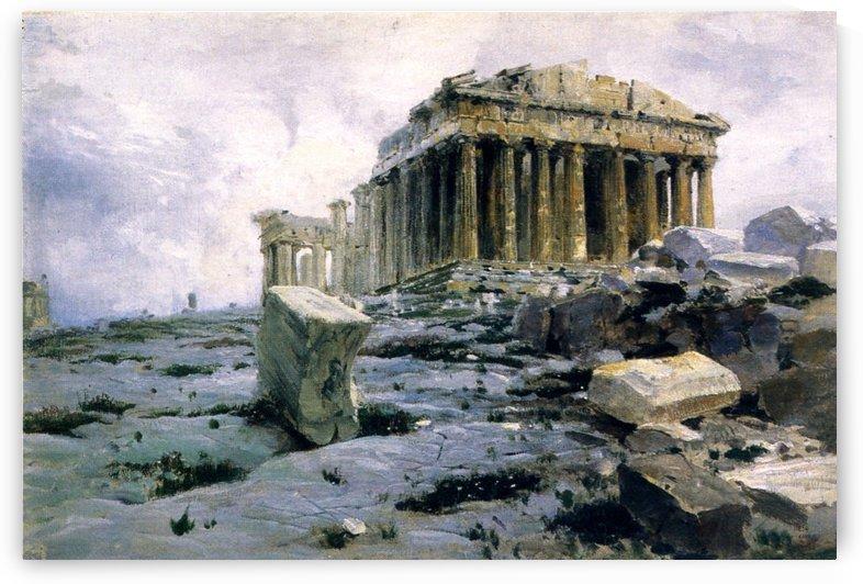 The Parthenon in Athens by Vasili Dmitrievich Polenov