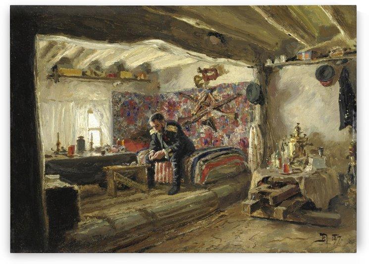 The headquarters of the Ruschuksky detachment, 1877 by Vasili Dmitrievich Polenov