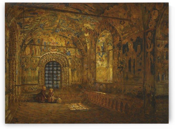 The Portico of a Church by Vasili Dmitrievich Polenov