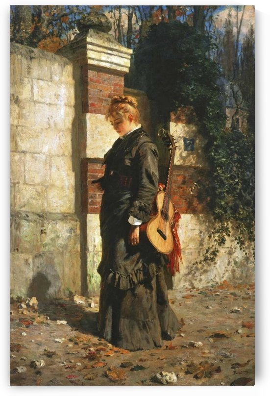 The guitar player by Vasili Dmitrievich Polenov