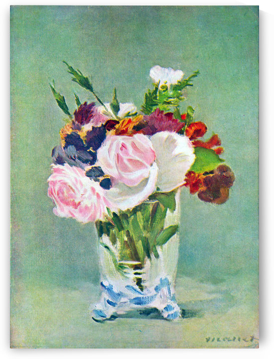 Still Life with Flowers -2- by Manet by Manet