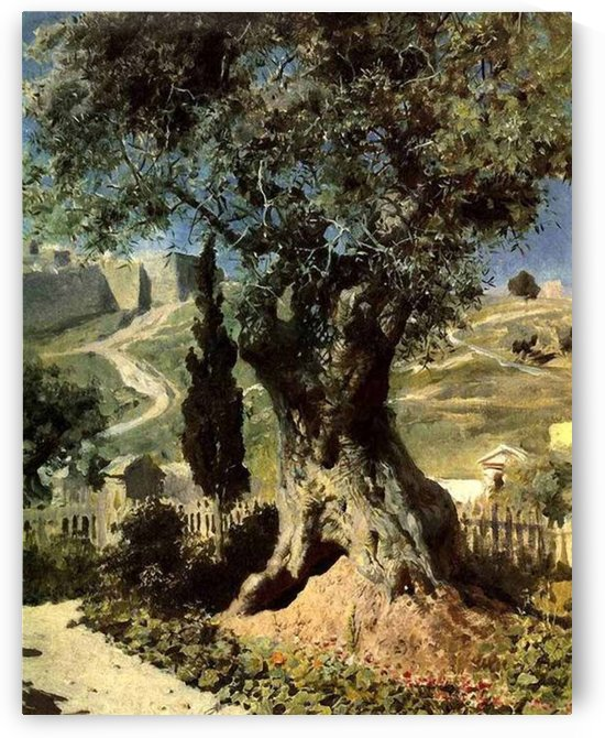 Olive tree in the Garden of Gethsemane by Vasili Dmitrievich Polenov