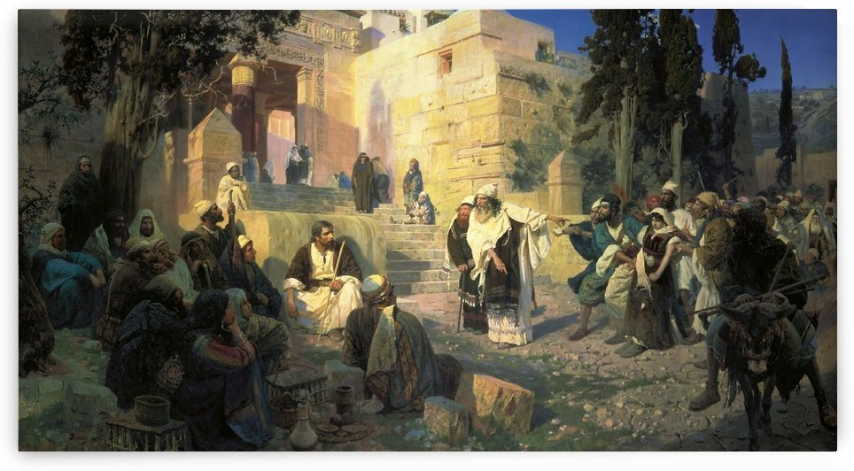 Christ and the woman taken in adultery by Vasili Dmitrievich Polenov