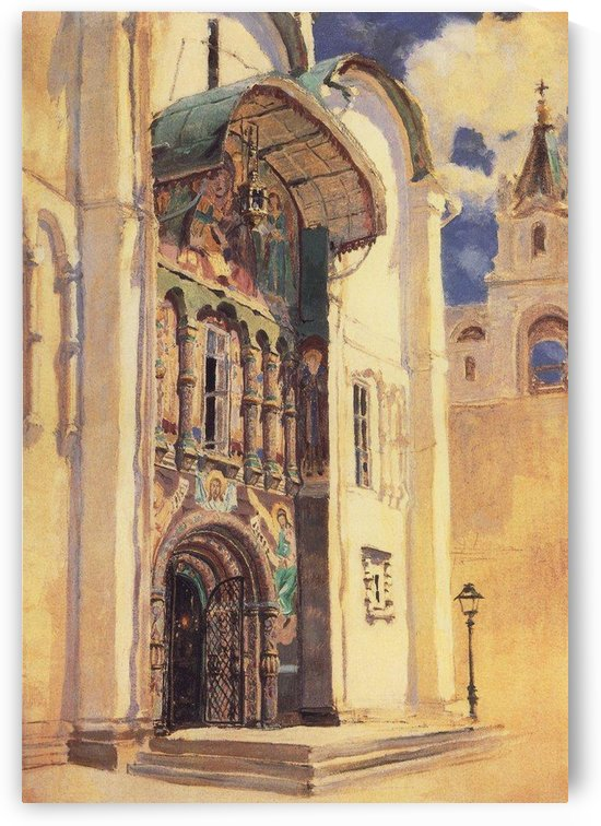 The Uspensky Cathedral. South Gates, 1877 by Vasili Dmitrievich Polenov