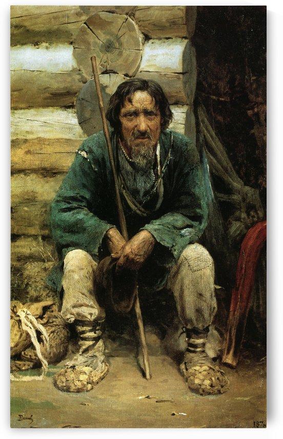 The narrator of the folk tales Nikita Bogdanov by Vasili Dmitrievich Polenov