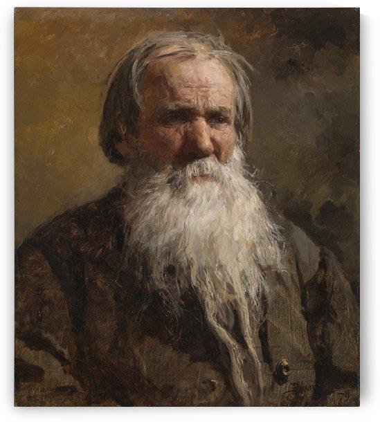 Portrait of an old man by Vasili Dmitrievich Polenov