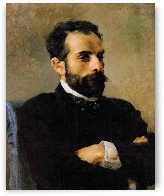 Portrait Of I. I. Levitan by Vasili Dmitrievich Polenov