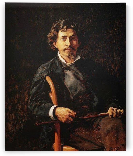 Portrait of the Artist Ilya Repin by Vasili Dmitrievich Polenov