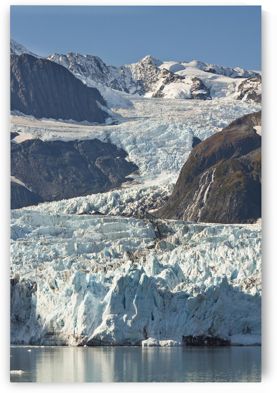 Scenic View Of Stairway Glacier (R) Flowing Into Surprise Glacier From Chugach Mountains, Prince William Sound, Alaska by PacificStock