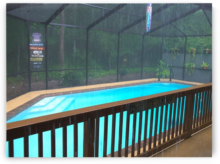 HDR RAINY DAY AT POOLSIDE by PJ Lalli