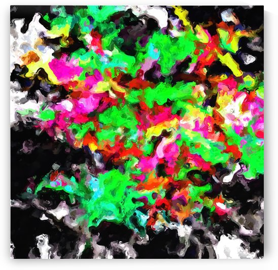 psychedelic splash painting abstract texture in pink green yellow black by TimmyLA