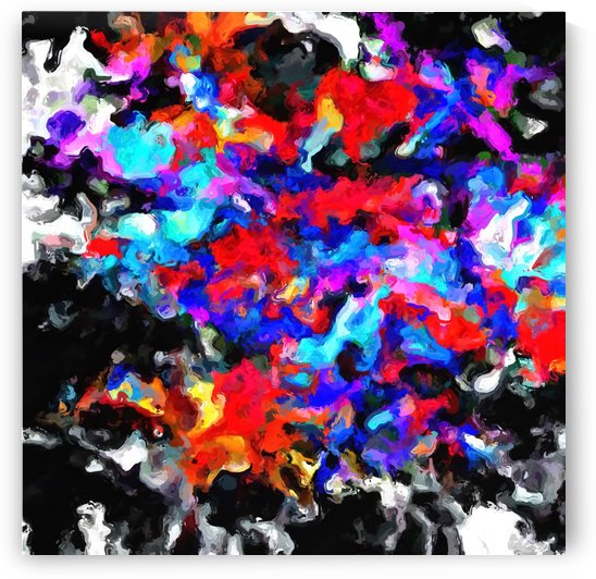 psychedelic splash painting abstract texture blue red pink black by TimmyLA