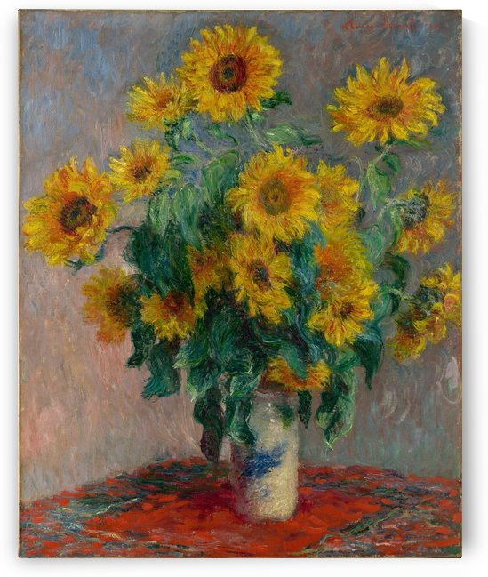 Still Life with Sunflowers by Monet by Monet