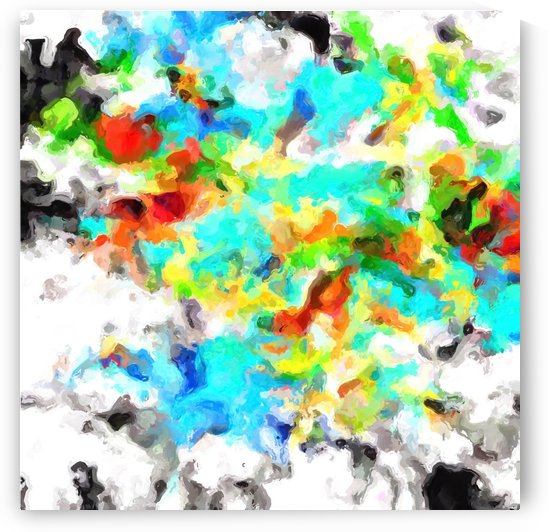psychedelic splash painting abstract texture in blue yellow brown green black by TimmyLA