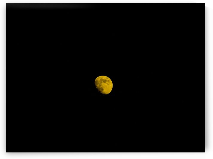 RED WAXING GIBBIOUS MOON by PJ Lalli