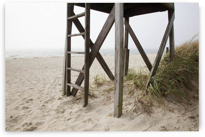 New England, Massachusetts, Cape Cod, Close up of an abandoned lifeguard station on beach. by PacificStock