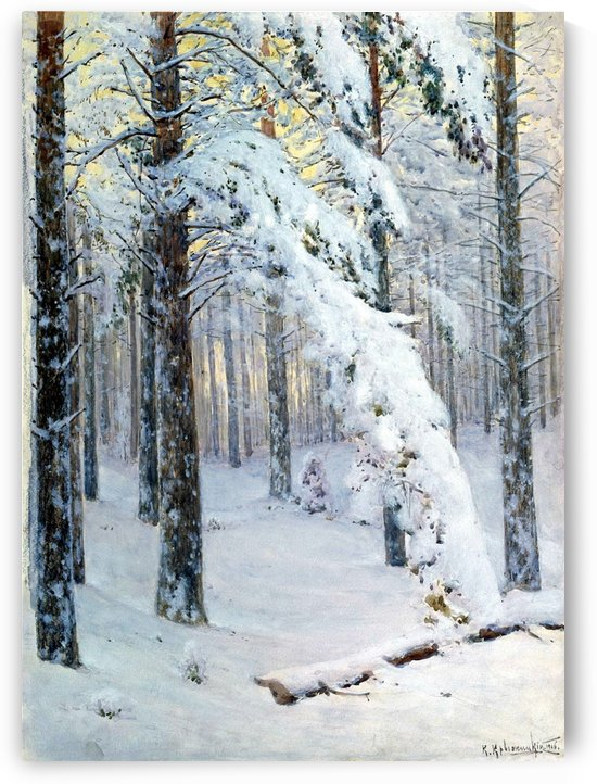 Forest in Winter by Konstantin Yakovlevich Kryzhitsky