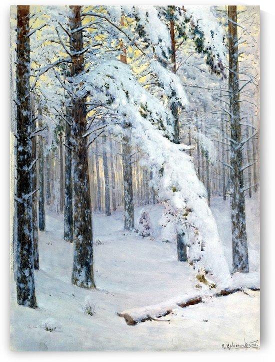 Forest in Winter by Konstantin Yakovlevich Kryzhitsky