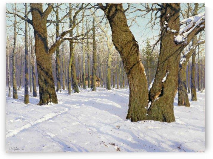 A breath of spring by Konstantin Yakovlevich Kryzhitsky