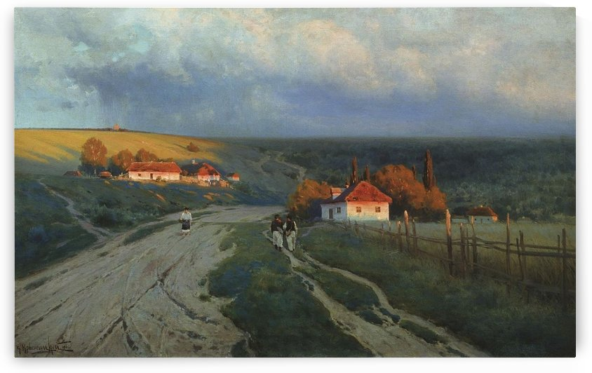 Evening in Ukraine, 1901 by Konstantin Yakovlevich Kryzhitsky