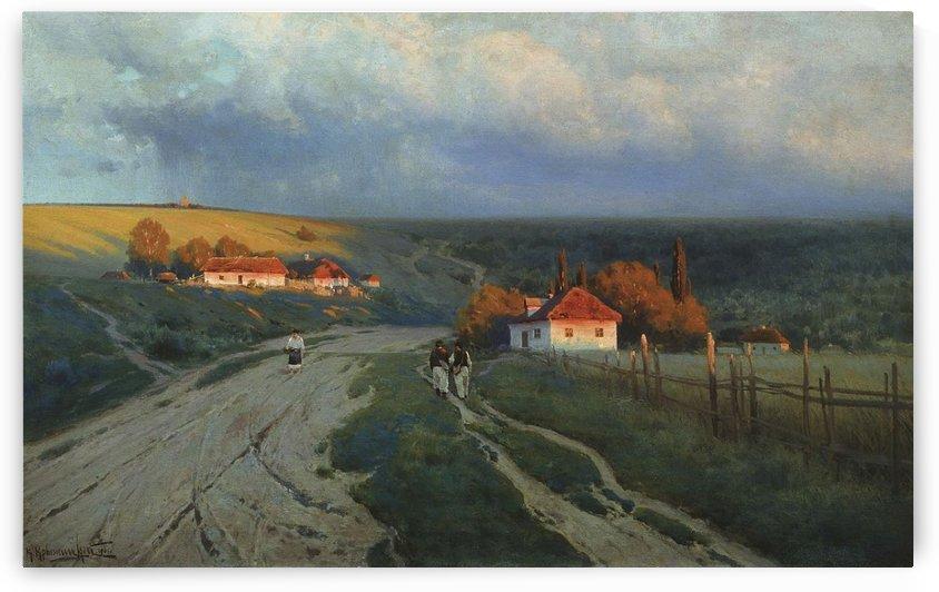 Evening in Ukraine, 1901 by Konstantin Yakovlevich Kryzhitsky