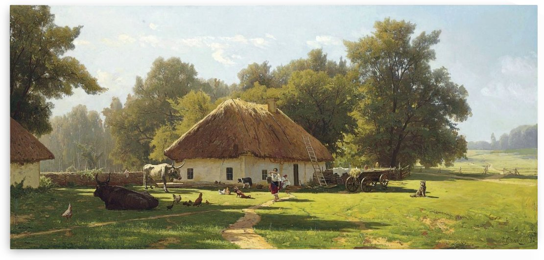 A spring day in Ukraine by Konstantin Yakovlevich Kryzhitsky