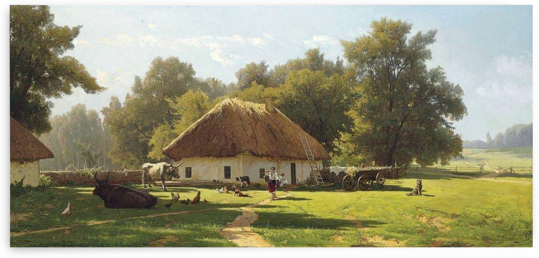 A spring day in Ukraine by Konstantin Yakovlevich Kryzhitsky