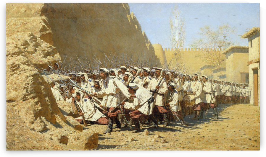 At the fortress walls by Vasily Vasilyevich Vereshchagin