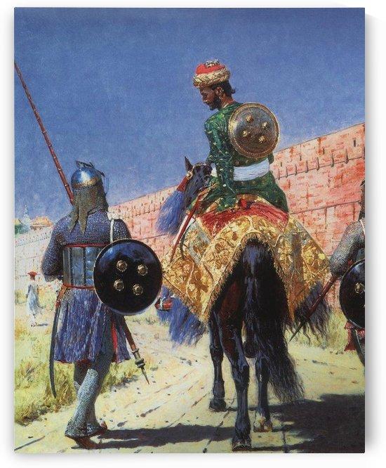 The horseman warrior by Vasily Vasilyevich Vereshchagin