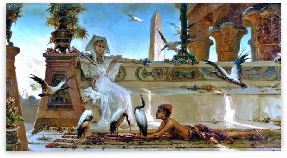 Cleopatra on a terrace of the temple by Vasili Alexandrovich Wilhelm Kotarbinsky