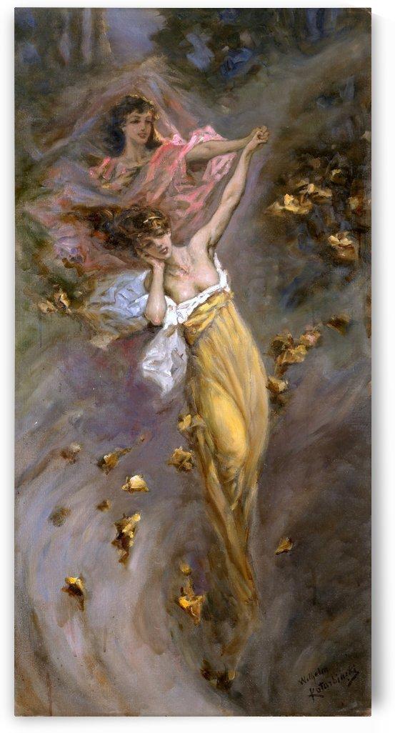 Dance of the leaves by Vasili Alexandrovich Wilhelm Kotarbinsky