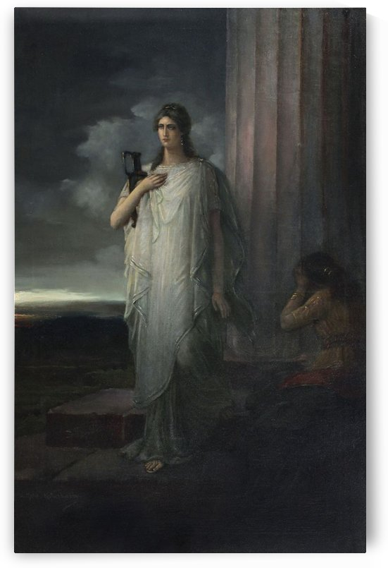 Greek mythology maiden by Vasili Alexandrovich Wilhelm Kotarbinsky