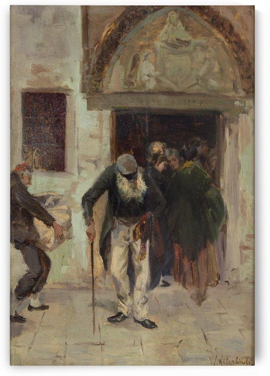 At the church door, Venice by Vasili Alexandrovich Wilhelm Kotarbinsky