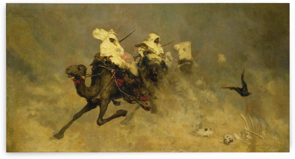 Camel cavalry by Vasili Alexandrovich Wilhelm Kotarbinsky