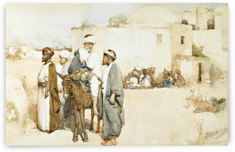 Oriental scene by Vasili Alexandrovich Wilhelm Kotarbinsky